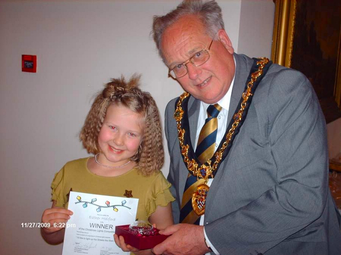 Esther Halford and The Worshipful Mayor of Erewash Councillor Terence Holbrook
