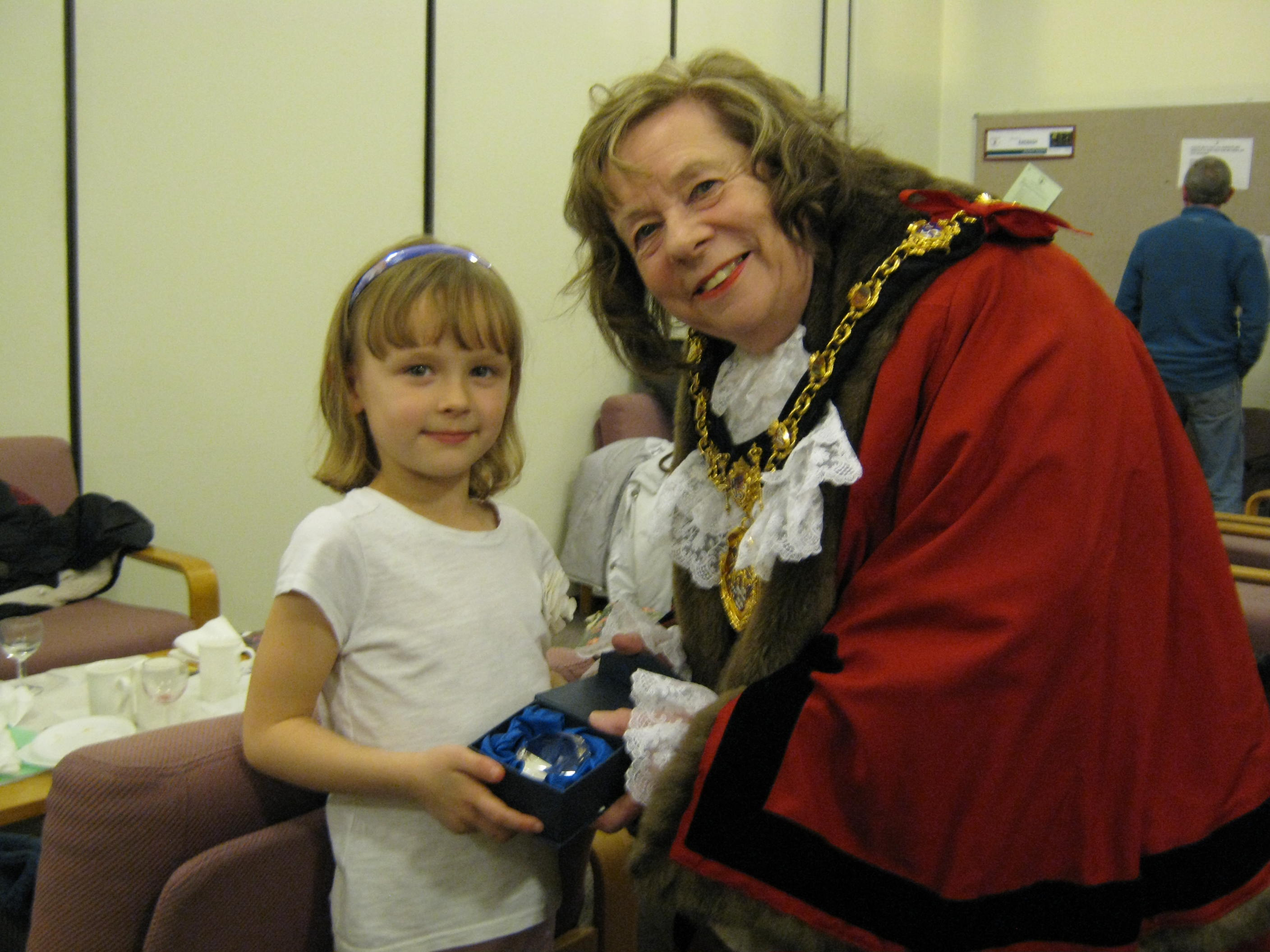 Chloe Allen with the Mayor of Erewash Councillor Val Custance