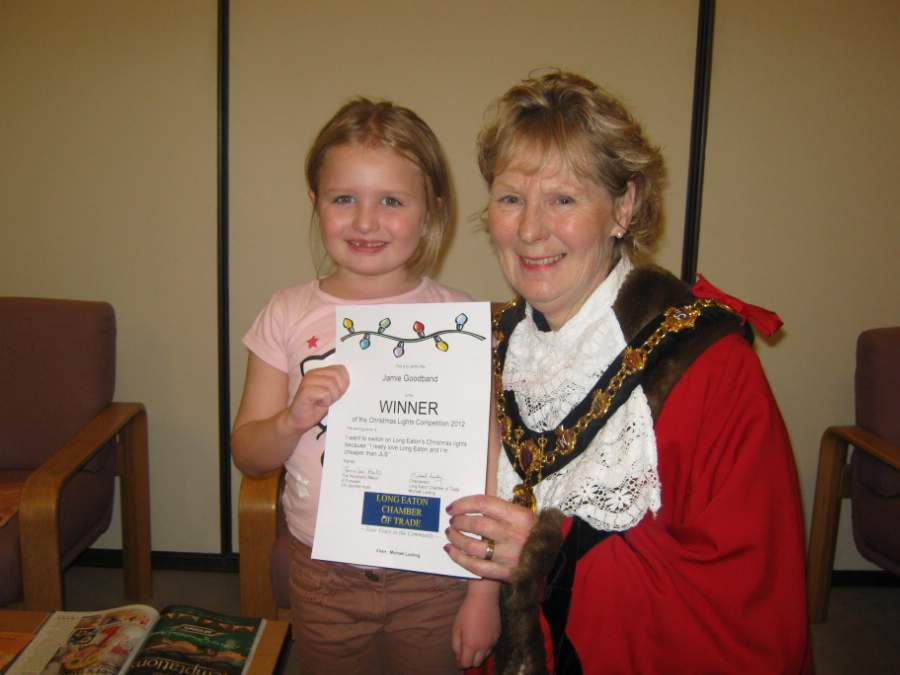 Jamie Goodband with Mayor Cllr Jennifer Hulls