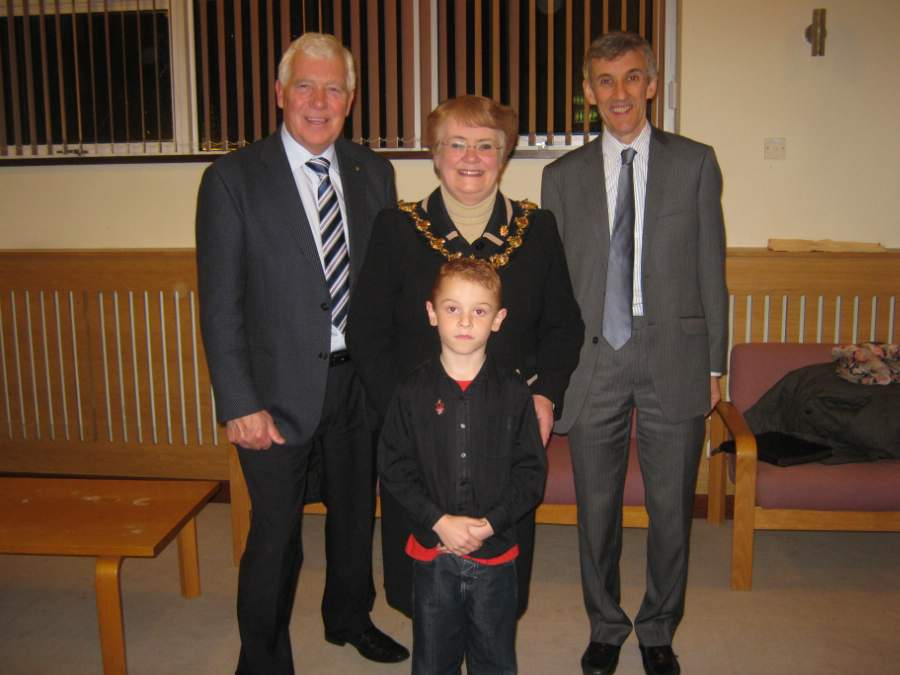 Ray Terry, Kai Glover, The Mayor of Erewash Cllr Val Clare, michael Lucking